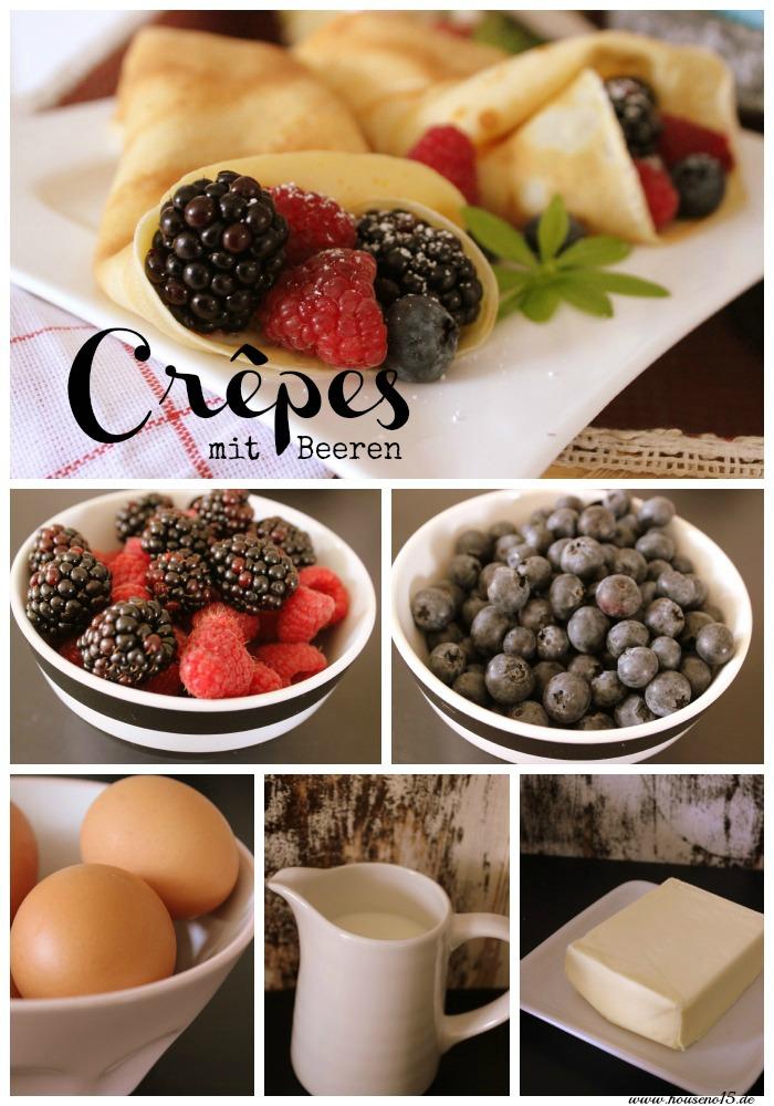 Crepes mit Beeren