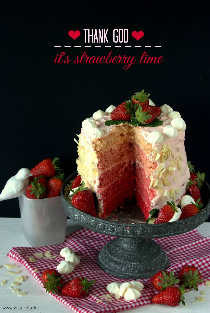 Ombre Stawberry cake1