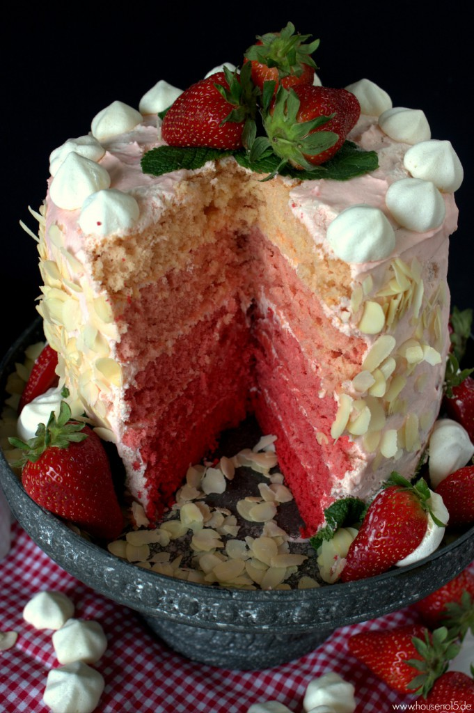 Ombre Strawberry Cake3