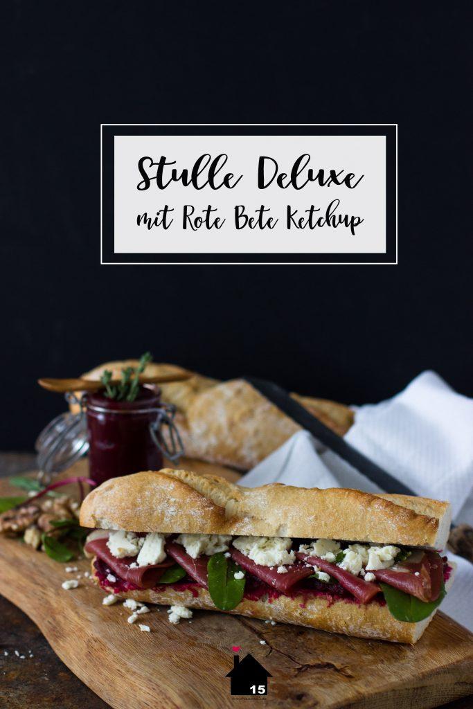 Rote Bete Ketchup Baguette Rezept Deluxe Snack Umzugssnack