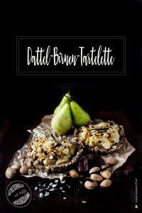 Datteln Birnen Tartelette
