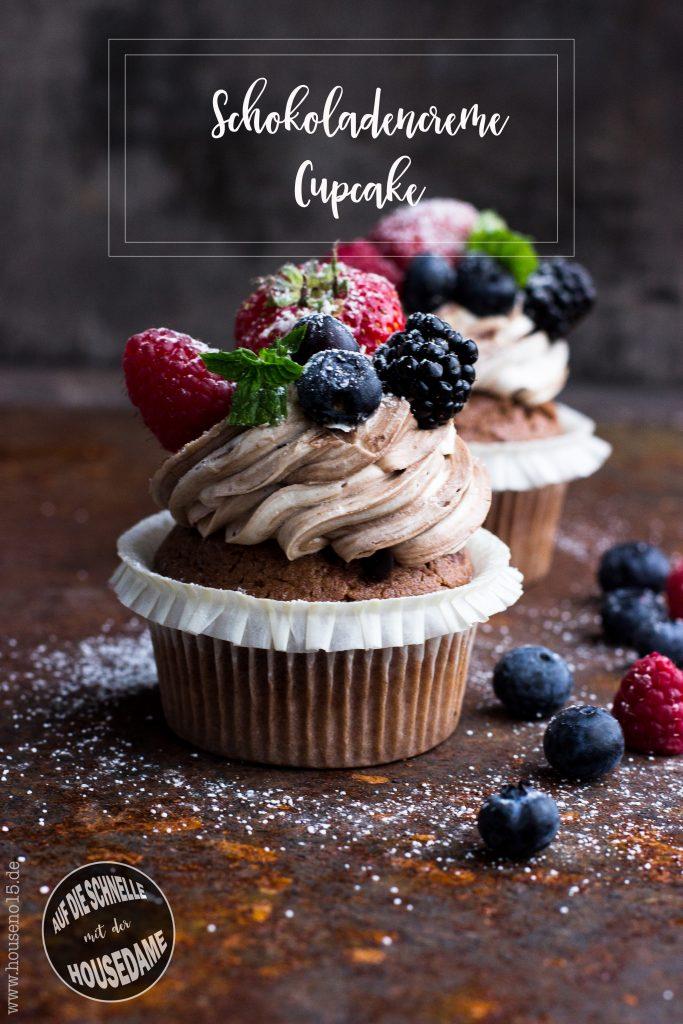 Schokoladencreme-Cupcake