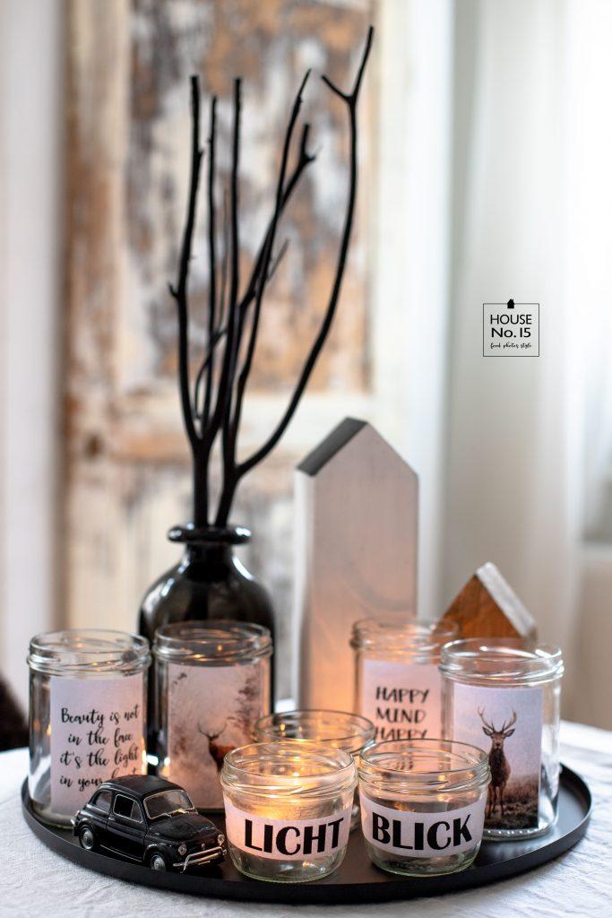 DIY Kerzengläser